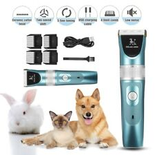 Professional Mute Set Pet Cat Dog Fur Hair Cordless Trimmer Clipper Shaver Kit