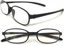 TR12919 Superb Lightweight TR90 Memory Plastic Black Comfortable Reading Glasses