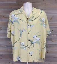 tommy bahama silk button down hawaiian shirt calla lily size M