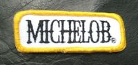 "MICHELOB BEER EMBROIDERED SEW ON PATCH ALE ADVERTISING UNIFORM 3 1/4"" x 1 3/4"""
