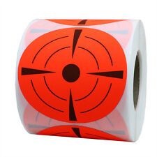 Target Pasters 3 Inch Fluorescent Adhesive Shooting Targets 10 Rolls (1,000)