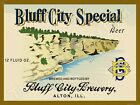 "BLUFF CITY SPECIAL BEER LABEL 9"" x 12"" METAL SIGN"