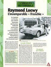 Raymond Loewy  Styliste Designer Studebaker Graphiste Car Auto FICHE FRANCE