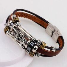 Unbranded Leather Alloy Chain Fashion Bracelets