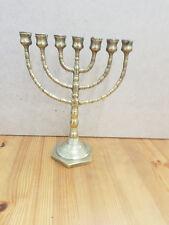 Messing Mennora ISRAEL Juden Judäa Kerzenleuchter Jerusalem 7 armig Kerzenhalter