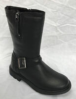 BNIB Clarks Girls Ines Spot Black Leather Mid Calf Boots E/F/G/H Fitting