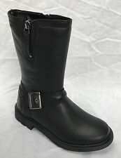 Clarks Girls Out-of-school Ines Spot Jnr Leather BOOTS in Black 13.5 E