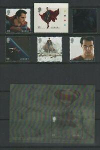 Jersey 2013 Man of Steel Film Mint MNH Set  & Mini Sheet