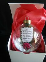 Personalized Christmas glass ornament