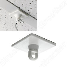 12 x square Adhesive Rotating Ceiling Button Swivel Eyelet , Hangers , Hooks