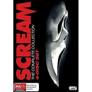 SCREAM 1 - 4 Box Set DVD ***NEW SEALED*** Region 4 4DVD
