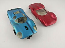 Vintage slot car and body lot 1/24, unknown brand, for parts/repair, see photos