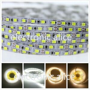 1m 5m 100m White 120LEDs/M SMD 2835 600LEDs Strip DC12V led strip 5mm PCB