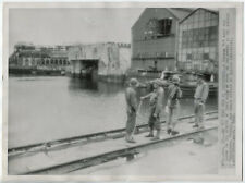 WWII US ARMY PHOTO SBB I hors-bord S-Boot E-boat bunker Cherbourg 28.8.1944