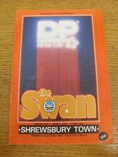 02/04/1985 Welsh Cup Semi-Finale: Swansea City V Shrewsbury Town (rayée à F