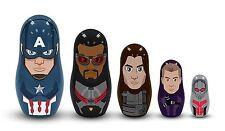 CAPTAIN AMERICA 3 - Team: Captain America Nesting Doll 5-Piece Set (PPW Toys)