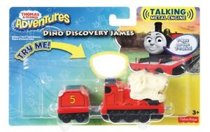 BNIP Thomas & Friends Adventures Talking Metal Engine DINO DISCOVERY JAMES TRAIN