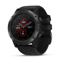Garmin fenix 5X Plus 51mm Sapphire Multisport GPS Watch Black/Black Band