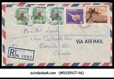 JAMAICA - 1968 REGISTERED AIR MAIL ENVELOPE TO CANADA with STAMPS