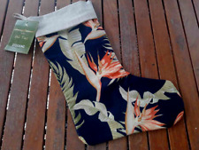 Tommy Bahama Christmas Stocking San Jacinto Indigo Holiday Beach Tropical Palm