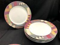 Vintage Studio Nova Palm Dessert Dinner Plates Set of 6! Perfect, never used!