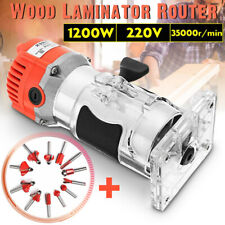 1200W 1/4'' Electric Wood Trimmer Wood Laminator Router Joiners Tool 35000r/min