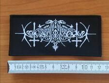 Nokturnal Mortum - Logo Aufnäher/Patch (Peste Noire, Totenburg, Black Metal)