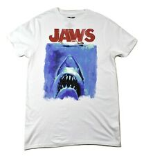 Jaws Mens Classic Movie Poster Retro '70s Style Shark Movie Shirt New S,M,L,XL