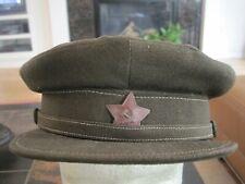 Soviet Russian Ww2 Original Commanders/Commissars Field Visor Hat - dated 1942