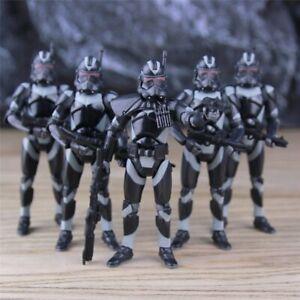 Star Wars Republic Elite forces Trooper BLACK  Army Builder Action Figure Gift
