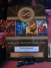 WOW Blazing Hippogryph Mount Unscratched Timewalker TCG Code Blizzcon 2019