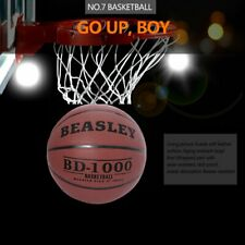 Size 7 Leather Basketball Indoor Outdoor Training Balls With Pump+Needles+Net