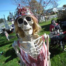 Halloween Realistic Scary Skeleton Man Bone Skull Creepy Decoration Outdoor Yard