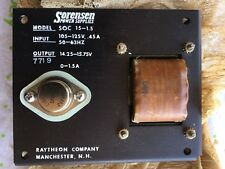 Sorensen power supply SOC 15-1.5, open chass 105-125 vac in, 14.25-15.75vdc out