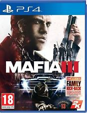 BRAND NEW SEALED MAFIA III 3 PS4 PLAYSTATION 4 GAME + BONUS DLCS (BOX DAMAGED)