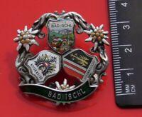 Bad Ischl Austrian Austria Vintage Metal Pin Badge Coat of Arms Tourist