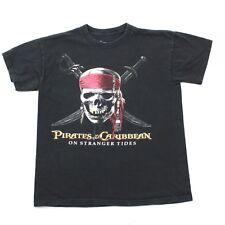 Disney Youth XL T-shirt Black Short Sleeve Pirates Of The Caribbean Tee RARE kid