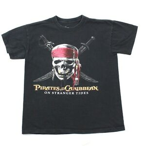 New Disney Store Pirates Of The Caribbean Skull Boys Tee T-Shirt XS-S 4-5//6