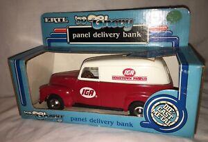 ERTL 1950 '50 CHEVY PANEL DELIVERY BANK IGA HOMETOWN PROUD NIB 1/25 DIE-CAST