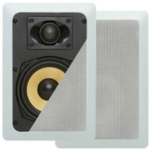 """Pair of 100W 5.25"""" 2-Way In Wall Ceiling Audio Sound Speaker Home Theater Cinema"""