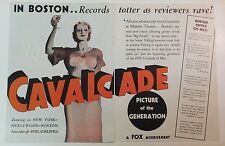 CAVALCADE - Vintage 1933 Fox Best Film Oscar Winner MOVIE TRADE AD Noel Coward