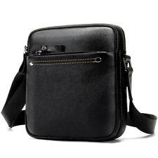 "Mens Genuine Leather 8"" Shoulder Messenger Bag Cross Body Business Bags Small"