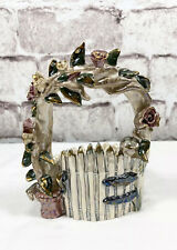 Blue Sky Clayworks Heather Goldminc Rose Arbor Gate Planter/Jar Candle Holder