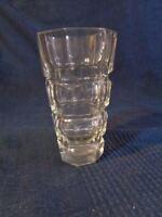 Vaso Sfaccettate IN Cristallo Intagliato a Mano Vintage No Marchio Antico Ass MM