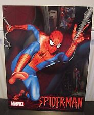 "THE AMAZING SPIDERMAN /MARVEL-ANTIQUE-STYLE METAL WALL SIGN 12.5""X 16"" SUPERHERO"