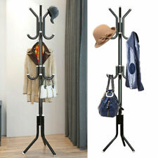 9 Hooks Stand Coat Rack Hat Easy to assemble & Includes a screw driver