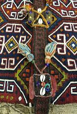 """Pre-1900s Antique Tribal Camel Bag 2'5""""×4'2"""" Chuval Sumak Embroidered Panels Rug"""