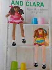 CROCHET PATTERN 2 Long Leg Dolls Toy with Dress Childrens 42cm Tall PATTERN