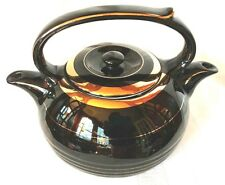 Lovely Twin Spout Tea Master Tea Pot Black with Gold Trim * Two Chambers - USA