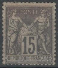 """FRANCE STAMP TIMBRE N° 77 """" TYPE SAGE 15c GRIS TYPE II """" NEUF x TB  A VOIR K531"""